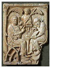 Ivories of the So-Called Grado Chair: Saint Peter Dictating the Gospel to Saint Mark
