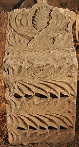 Block Carved with Acanthus and Palmette