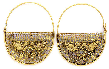 Pair of Earrings with Birds
