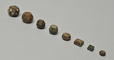 Eight Bronze Weights