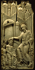 Ivories of the So-Called Grado Chair: Saint Mark Baptizing Anianos