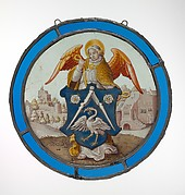 Angel Supporting a Heraldic Shield