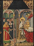 Panel with the angel appearing to Zacharias from Retable