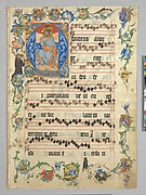 Christ in Majesty in an Initial A (Bifolium from an Antiphonary)