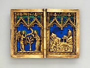 Diptych with Scenes of the Annunciation, Nativity, Crucifixion, and Resurrection