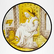 Roundel with Saint Mark