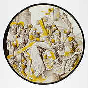 Roundel with Christ Carrying the Cross with Saint Veronica