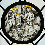 Roundel with Christ Taking Leave of His Mother