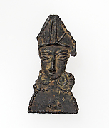 Pilgrim&#39;s Badge with Bust of a Bishop