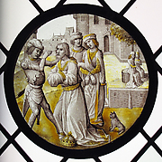 Roundel with the Blinding of Zaleucus of Locria