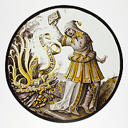Roundel with Allegorical Scene of Book Burning