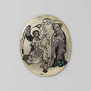 Enamel Plaque with the Annunciation
