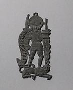 Pilgrim's Badge representing Saint Adrian