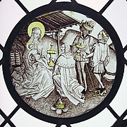 Roundel with Adoration of the Magi