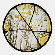 Roundel with Christ before Pilate