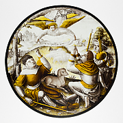 Roundel with Annunciation to the Shepherds