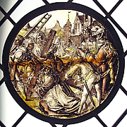 Roundel with Christ Bearing the Cross