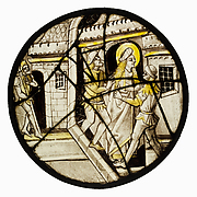 Roundel with Saint  Barbara or Saint Catherine Thrown into Prison