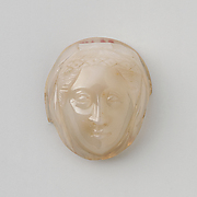 Cameo with Head of Female Saint Wearing Wimple