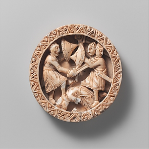 Game Piece with Hercules Slaying the Three-Headed Geryon