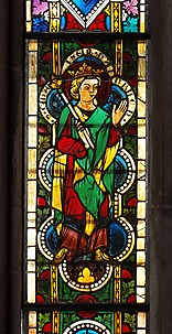 Stained Glass Panel with Emperor Henry II
