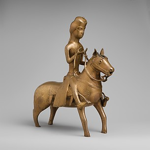 Aquamanile in the Form of a Falconer on Horseback