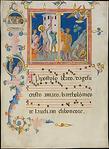 Leaf from a Laudario with the Martyrdom of Saint Bartholomew