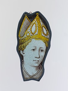 Panel with the Head of a Bishop