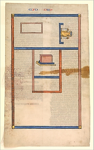 Floor Plan of the Tabernacle, one of six illustrated leaves from the Postilla Litteralis (Literal Commentary) of Nicholas of Lyra