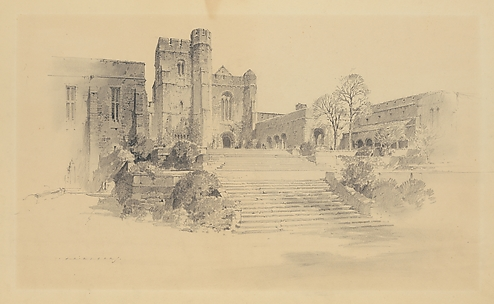 Preliminary Design for The Cloisters - View from the Southwest