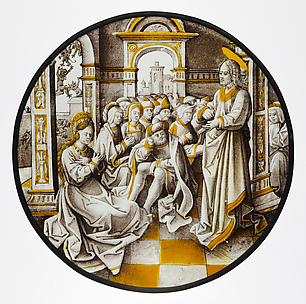 Roundel with Christ and the Adulterous Woman