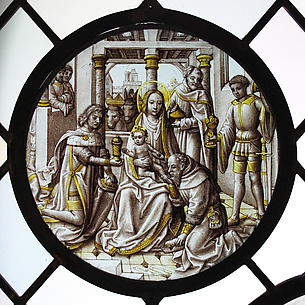 Roundel with the Adoration of the Magi