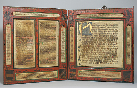 Devotional Diptych with inset Manuscript Texts