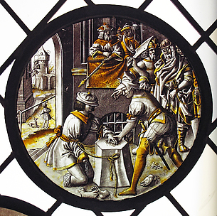 Roundel with Martyrdom of Saint Jacobus Intercisus