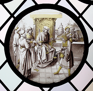 Roundel with Judgment or Allegorical Scene