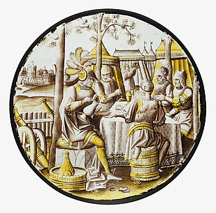 Roundel with Ben-Hadid and the Siege of Samaria