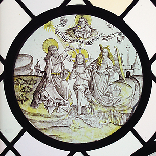 Roundel with the Baptism of Christ