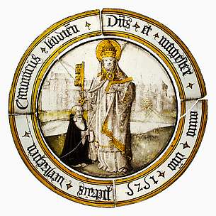 Roundel with Saint Peter as Pope