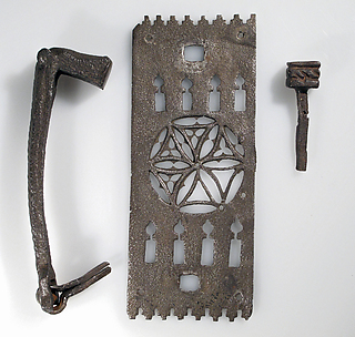 Door Knocker with Plate and Nail