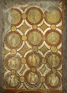 Decorative panel fresco