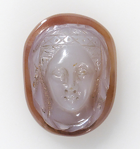 Cameo with head of female saint