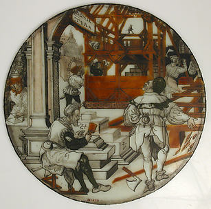 Roundel with Architecture (from a series of The Septem Artes Mechanicae)