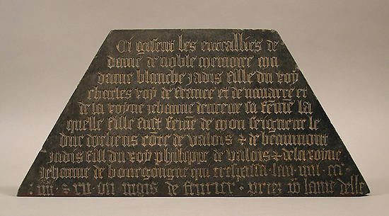 Tomb Plaque of Blanche of France (132892), daughter of Charles IV of France and Jeanne d&#39;Evreux