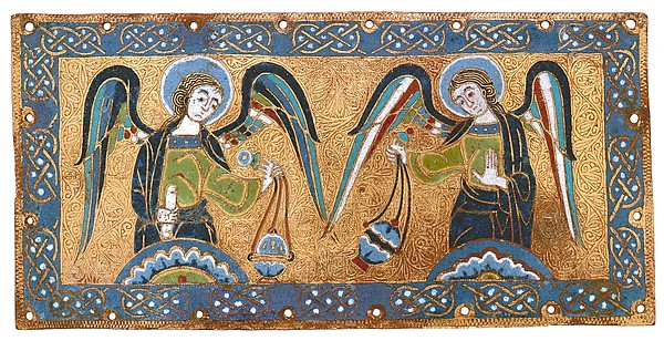 Plaque with Censing Angels