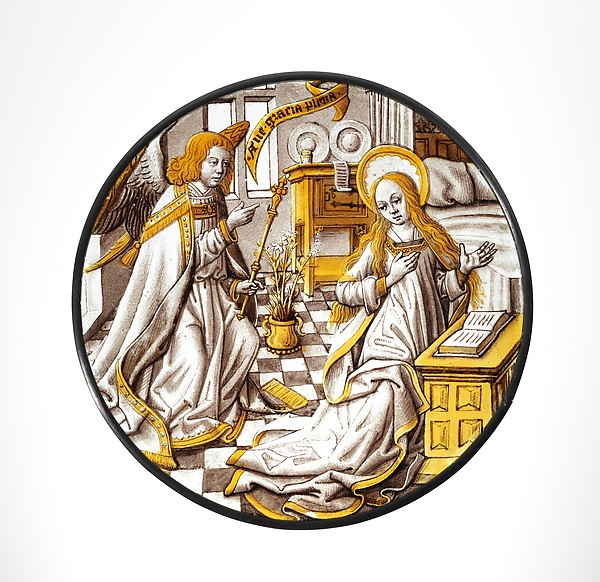 Roundel with Annunciation to the Virgin