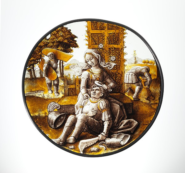 Roundel with Delilah Cutting the Hair of Samson