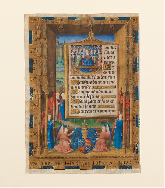 Two Leaves from the Hours of Charles of France