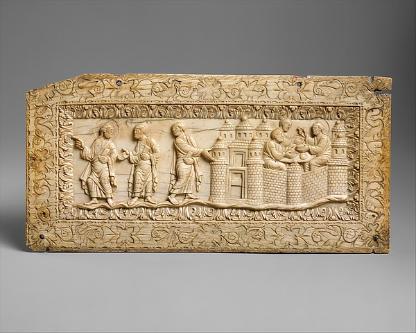 Plaque with Scenes at Emmaus