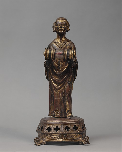 Priest holding a Reliquary