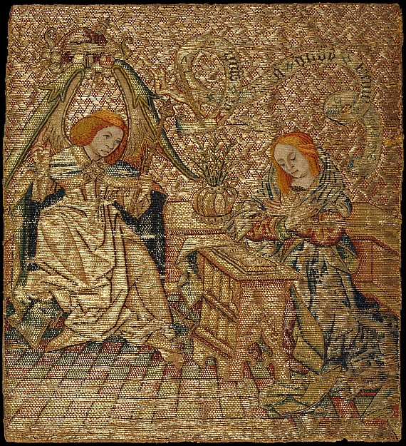 Embroidery with the Annunciation